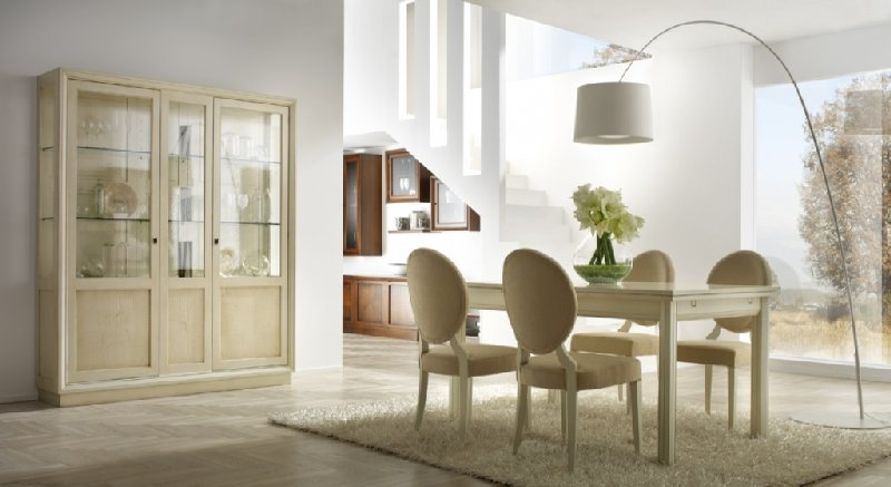 Soggiorno classico laccato soggiorno laccato bianco for Soggiorni bianchi