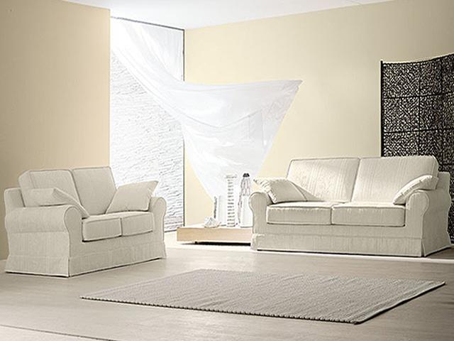 Salotto classico salotto in pelle divano in tessuto - Divano classico in pelle ...
