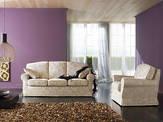 Salotto classico salotto in pelle divano in tessuto damascato - Divano tessuto damascato ...