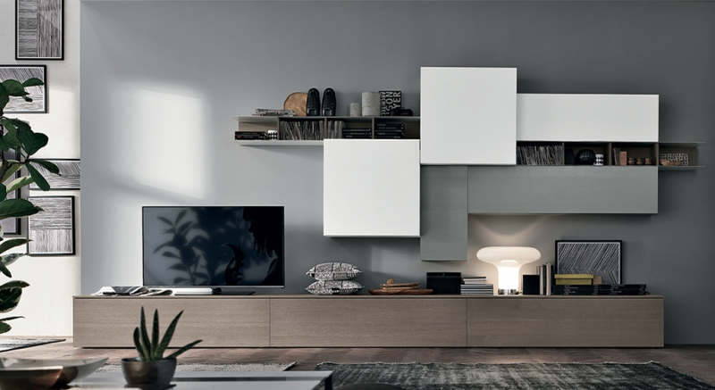 Stunning Composizione Soggiorno Moderno Images - Idee Arredamento ...