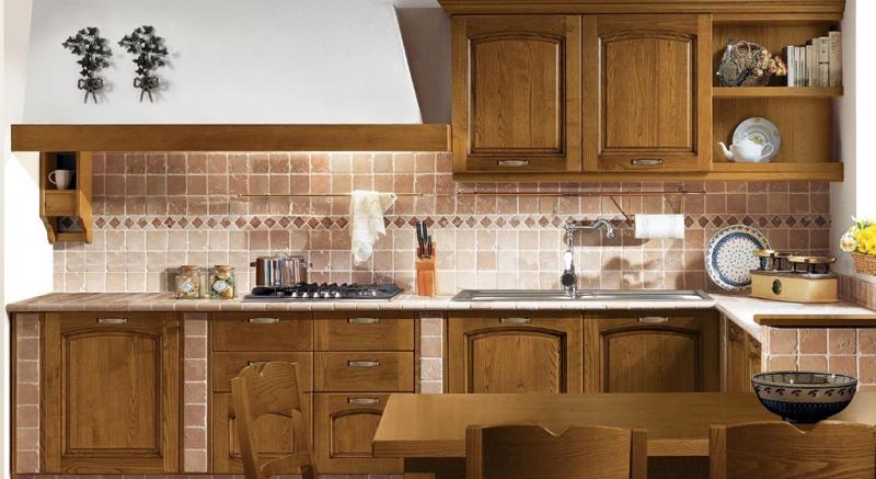 Cucine Classiche, Cucine legno massello, Legno naturale, Castagno