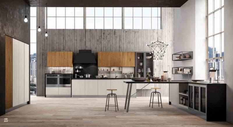 Cucine Moderne, Cucine laccato lucido, Olmo, Rovere