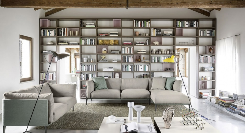 Zona giorno moderno zona giorno composizione parete for Zona living moderna