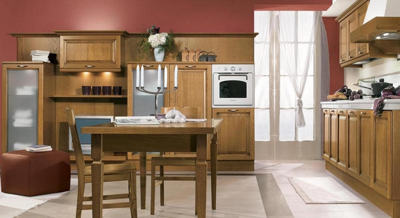Cucina classica diana, Cucina classica castagno, Cucina Diana