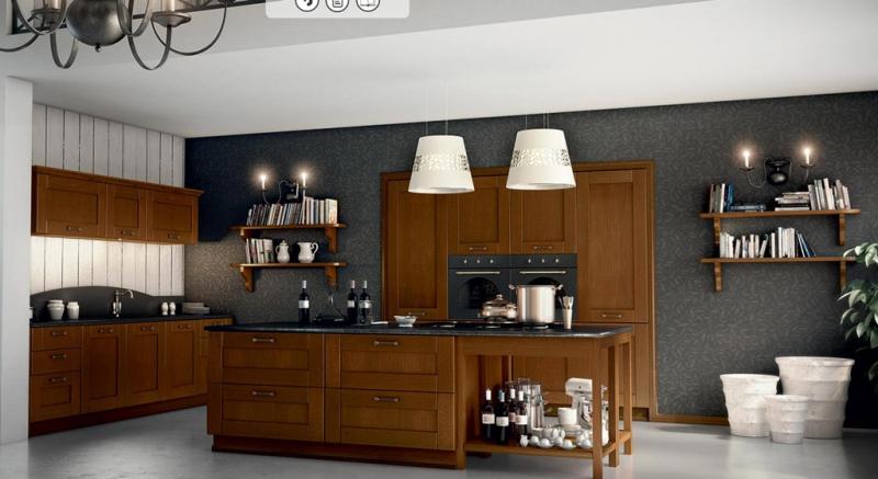 Cucine classiche cucine legno massello legno naturale castagno - Cucine in legno classiche ...