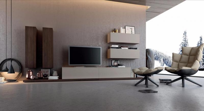 Zona giorno moderno zona giorno composizione parete for Composizione soggiorno moderno
