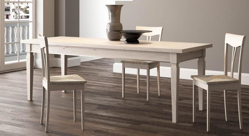 Tavoli e sedie classici legno massello laccato decap for Sedie modelli