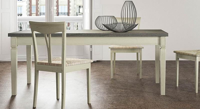 Tavoli e Sedie Classici, Legno massello, Laccato, Decapè